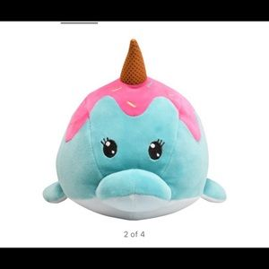 Spark blue narwhal plush